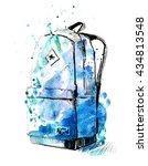 fashion watercolor illustration ...   Shutterstock . vector #434813548