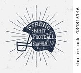 american football retro helmet... | Shutterstock .eps vector #434816146