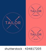 tailor logo. clothing logo.... | Shutterstock .eps vector #434817205
