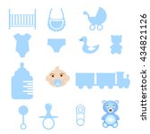 baby icons set. vector stock. | Shutterstock .eps vector #434821126