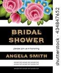 bridal shower invitation... | Shutterstock .eps vector #434847652