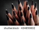 pencils close up background. | Shutterstock . vector #434850832