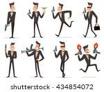 vector set of cartoon images of ... | Shutterstock .eps vector #434854072