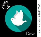 dove icon vector art eps image... | Shutterstock .eps vector #434862568