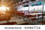 restaurant or cafeteria...   Shutterstock . vector #434867716