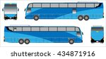 modern long bus vector  colour... | Shutterstock .eps vector #434871916