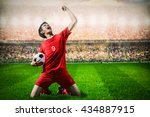 striker soccer football player... | Shutterstock . vector #434887915