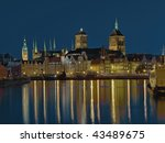 View of the beautiful architecture in Gdansk, Poland. - stock photo