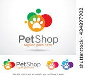 pet shop logo template design... | Shutterstock .eps vector #434897902