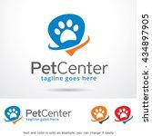 pet center logo template design ... | Shutterstock .eps vector #434897905