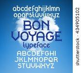 custom retro typeface bon... | Shutterstock .eps vector #434905102