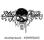 stay true typography vintage... | Shutterstock .eps vector #434905642