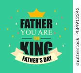 father's day poster... | Shutterstock .eps vector #434912242