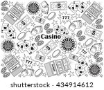 casino design colorless set... | Shutterstock .eps vector #434914612