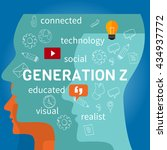 generation z connected | Shutterstock .eps vector #434937772