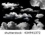 isolated clouds set over black | Shutterstock . vector #434941372