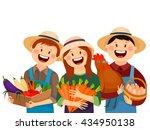 farmers   vegetables   carrots  ... | Shutterstock .eps vector #434950138