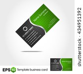green business card | Shutterstock .eps vector #434951392