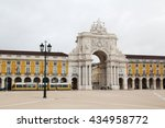 commerce square and statue of... | Shutterstock . vector #434958772