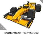 funny fast cartoon formula race ... | Shutterstock .eps vector #434958952