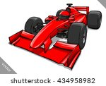funny fast cartoon formula race ... | Shutterstock .eps vector #434958982