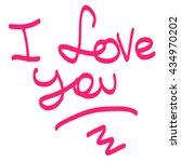i love you handwritten on a... | Shutterstock .eps vector #434970202