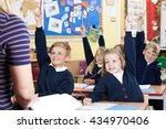 class of elementary school... | Shutterstock . vector #434970406
