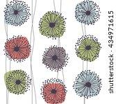 retro pattern of stylized... | Shutterstock .eps vector #434971615