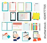 agenda list concept vector... | Shutterstock .eps vector #434977705