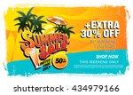 summer sale template banner   Shutterstock .eps vector #434979166