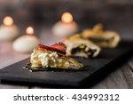 warbat dessert with candles   Shutterstock . vector #434992312