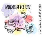 motobike for rent. advertising...   Shutterstock .eps vector #434995282