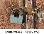 old door lock   Shutterstock . vector #43499593