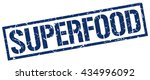 superfood stamp.stamp.sign... | Shutterstock .eps vector #434996092