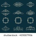 exclusive decor elements or... | Shutterstock .eps vector #435007906