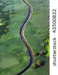 aerial view of sinuous river   Shutterstock . vector #43500832