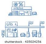 set of garage  car repair shop... | Shutterstock .eps vector #435024256
