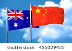 australia flag with china flag  ... | Shutterstock . vector #435029422