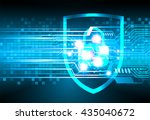 safety concept  closed padlock...   Shutterstock .eps vector #435040672