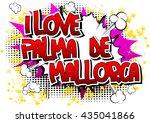 i love palma de mallorca  ... | Shutterstock .eps vector #435041866