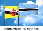 brunei flag with botswana flag  ... | Shutterstock . vector #435044428