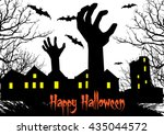happy halloween background | Shutterstock .eps vector #435044572