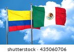 colombia flag with mexico flag  ... | Shutterstock . vector #435060706