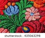 multicolor floral hand... | Shutterstock . vector #435063298