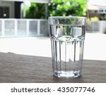 A Glass Of Drinking Water With...
