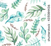 Watercolor Light Blue And Gree...