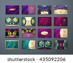 vector vintage business cards... | Shutterstock .eps vector #435092206