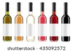 set of wine bottles with black... | Shutterstock . vector #435092572