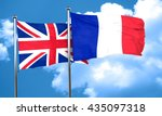 great britain flag with france... | Shutterstock . vector #435097318