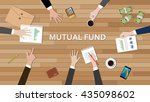 mutual fund economy business... | Shutterstock .eps vector #435098602